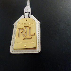 Authentic Lauren Ralph Lauren Luggage Tag- White